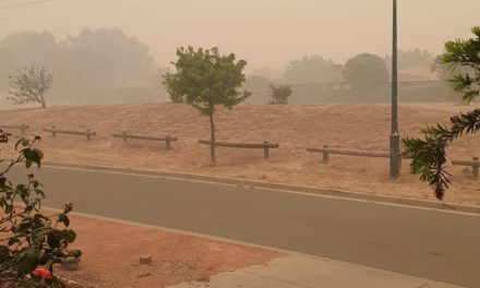 Australia Fires: Kathy and Barry Day in Canberra. Jan 6, 2020